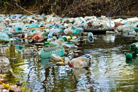 polluted river: water pollution.  Editorial