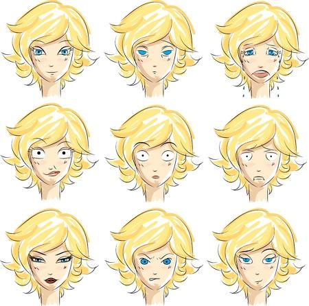 expresiones faciales: Expresiones de la cara