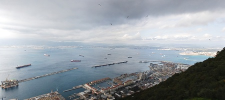 Bay of Gibraltar - Harbor Stock Photo