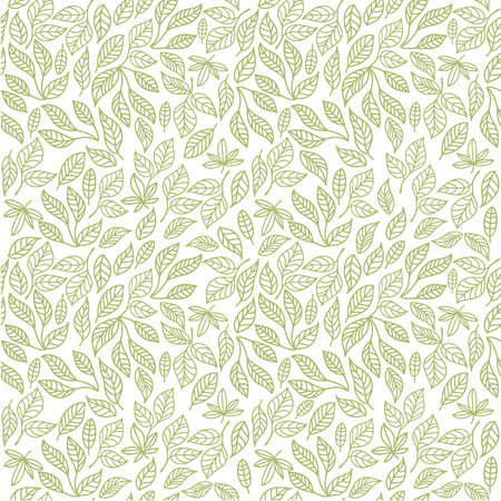 grass silhouette: Seamless decorative template texture with green contour leaves