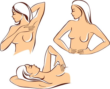breast examination: Breast self exam