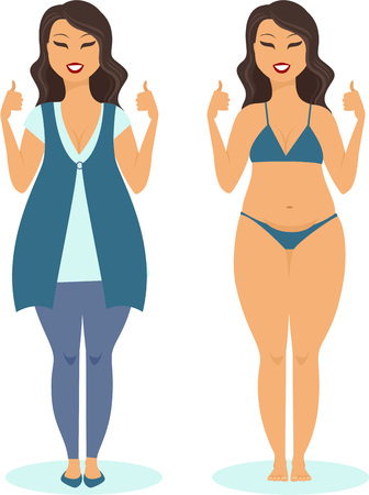 plus size girl: Happy plus size girl happy body positive concept