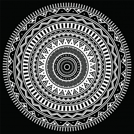 aztec art: Ornamental round lace  Aztec style ornament