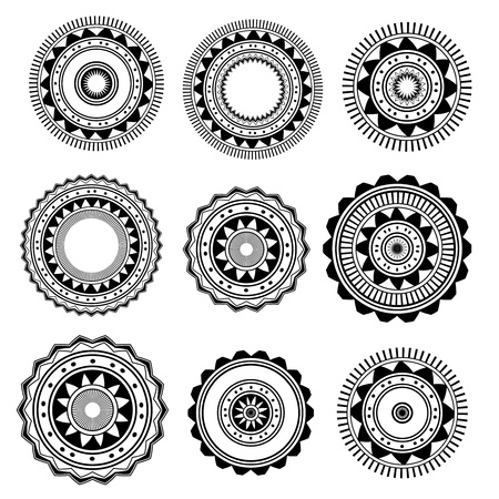 Circle   Ring Designs  Collection of nine  Vector