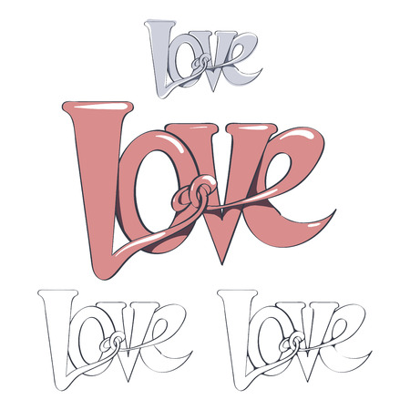 valentino: Lettering Love. For Valentines Day, holidays.