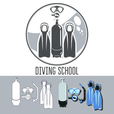 regulator: diving School Illustration