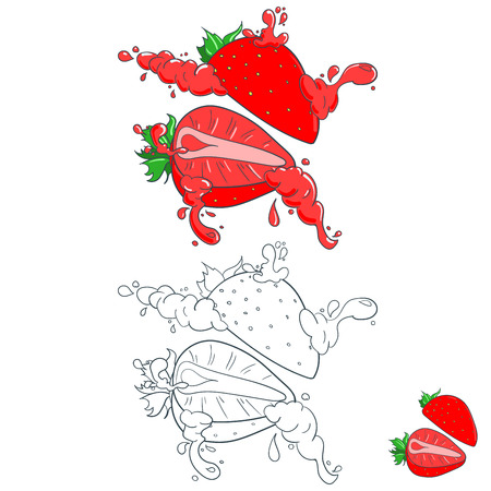 그린: Painted with splashes of fruit juice, strawberry