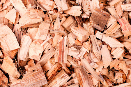 Wood chips or sawdust closeup texture background