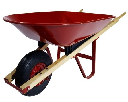yard work: wheelbarrow For a kitchen garden