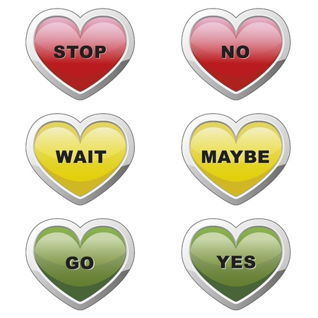 Heart buttons Vector
