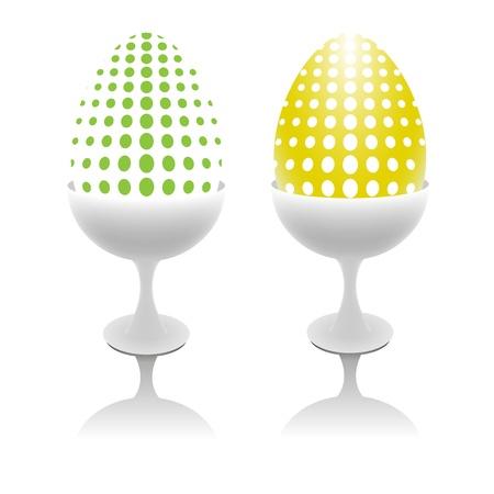eggcup: Vector design Easter eggs Illustration