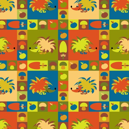 Funny vector seamless pattern  Vector