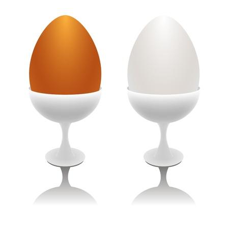 eggcup: Vector eggs in eggcups