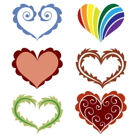 Set of hearts Stock Vector - 12374828