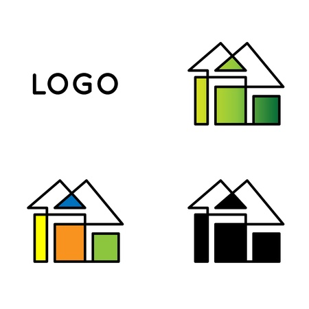 arquitecto: Casa logotipo Vectores