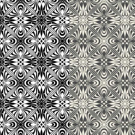 Patterns in art nouveau style Vector