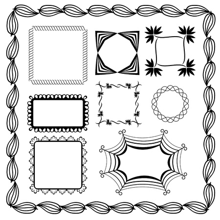 Set of graphic frames Vector
