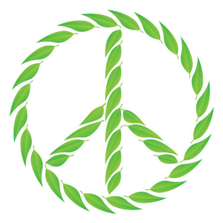 Eco peace sign Stock Vector - 12494847