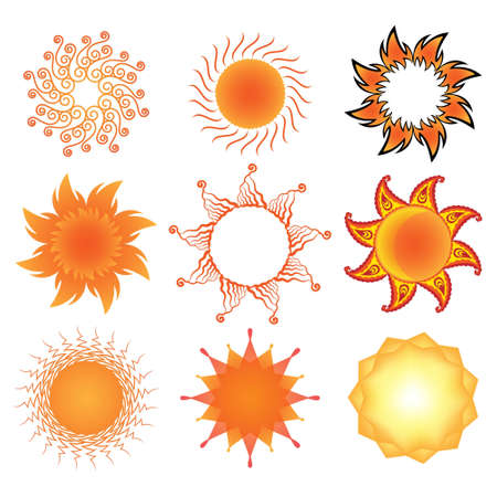 Set of stylized  sun symbols Stock Vector - 12880476