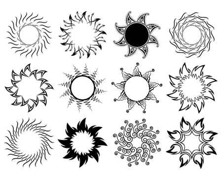 Set of stylized graphic sun symbols Stock Vector - 12880475