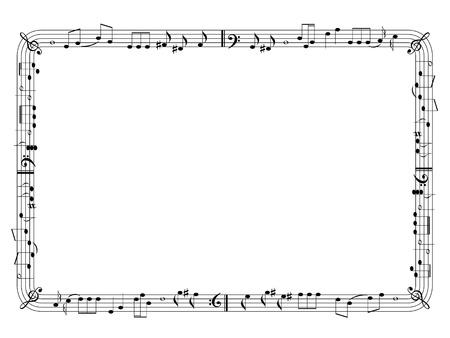 pentagrama musical: Música marco temático Vectores