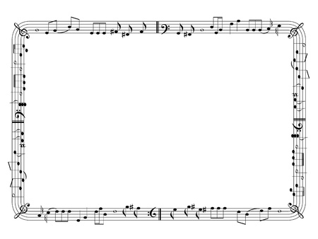music sheet: Music theme frame Illustration