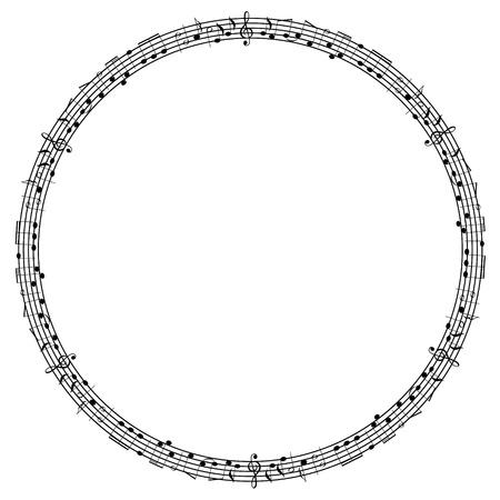 pentagrama musical: Notas marco de la Ronda
