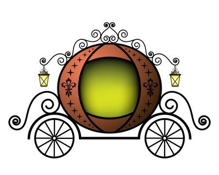 carriage: Trasporto Fairytale Vettoriali