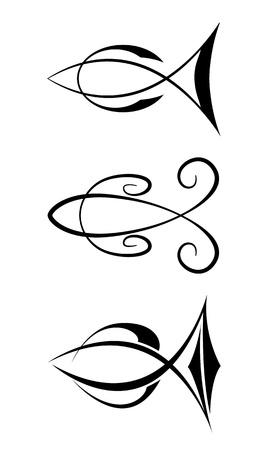 logo poisson: Symboles poisson Illustration