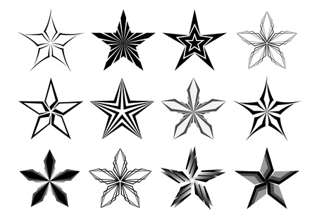 Graphic stars collection Stock Vector - 13035400