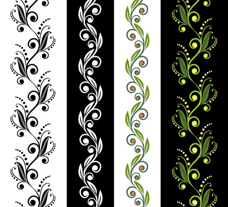 Four seamless ornamental patterns Illustration
