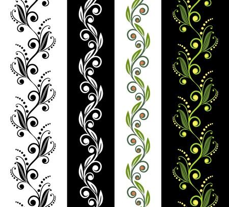 Vier naadloze decoratieve patronen