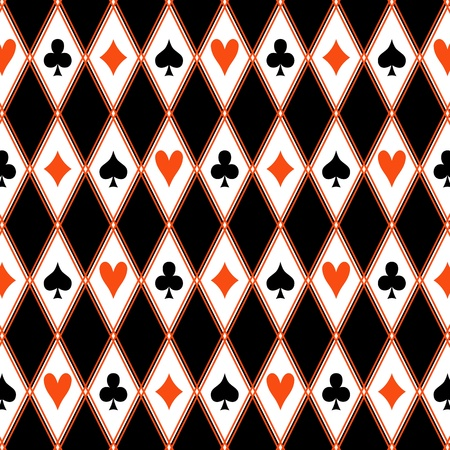 gambler: Seamless pattern with suits