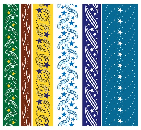 Six star seamless ornaments Stock Vector - 13671229