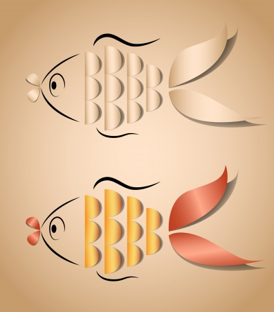 Fish application for any background Vector