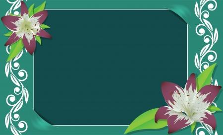 photo album page: Floral frame