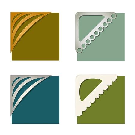 photo frame corner: Set of photo corners Illustration