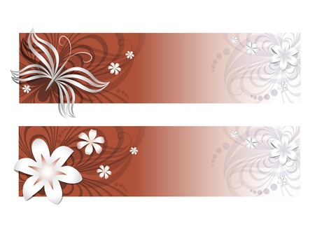 Floral banners Stock Vector - 14220180