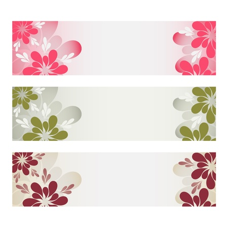 Floral banners Stock Vector - 14220178