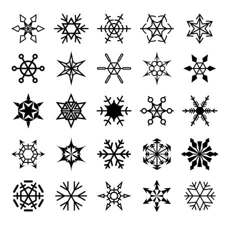 snowflake border: Set of decorative snowflakes