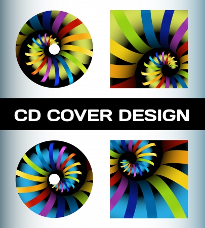 CD cover design Stock Vector - 14581098