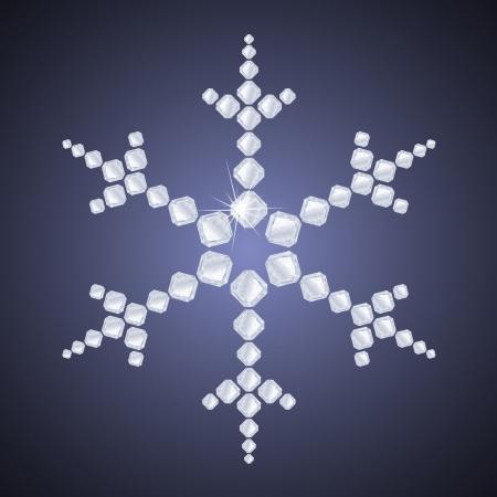 Diamond snowflake Stock Vector - 14581084