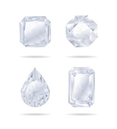 diamonds set Stock Vector - 14581058