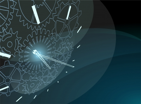 digital clock: Abstract background Illustration