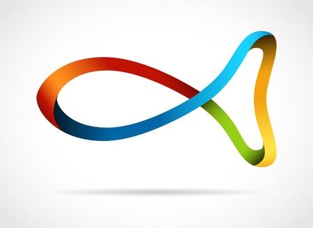 Fish creative design symbol