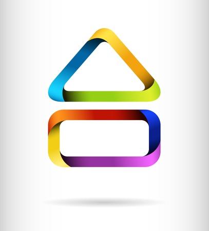 Rainbow building design concept Stock Vector - 14581104