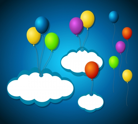 Isolated balloon tags Vector