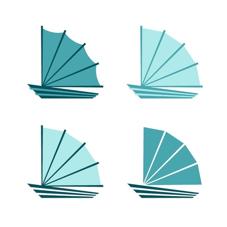 Boat logoicon Vector