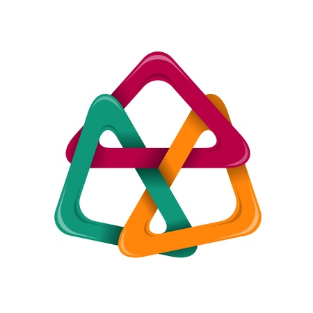 Triangle design element Vectores