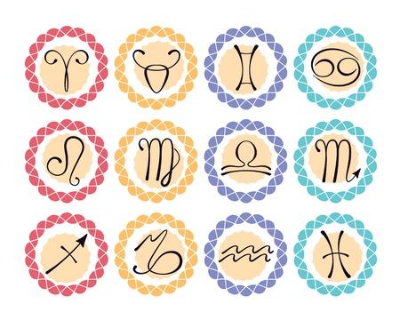 zodiacal: Zodiacal icons Illustration